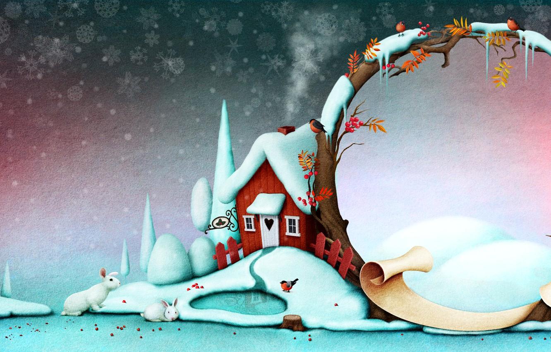 Photo wallpaper New Year, Christmas, postcard, template, congratulatory