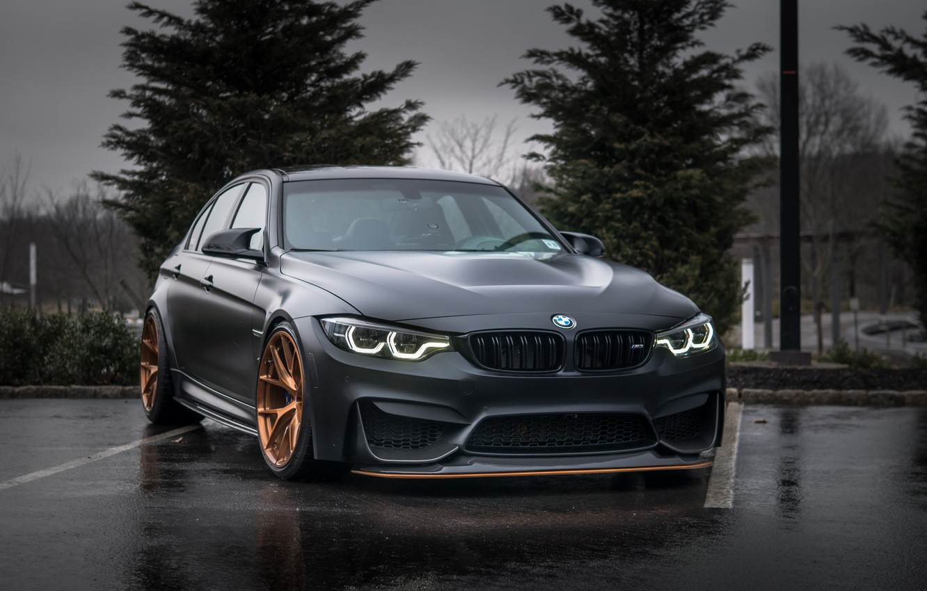 Photo wallpaper BMW, Evening, Gray, F80, Sight