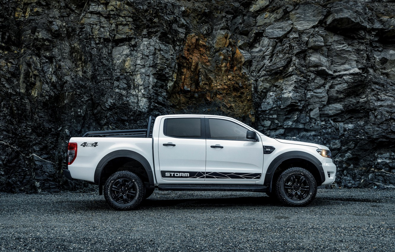 Photo wallpaper Ford, side view, pickup, Storm, Ranger, 2020
