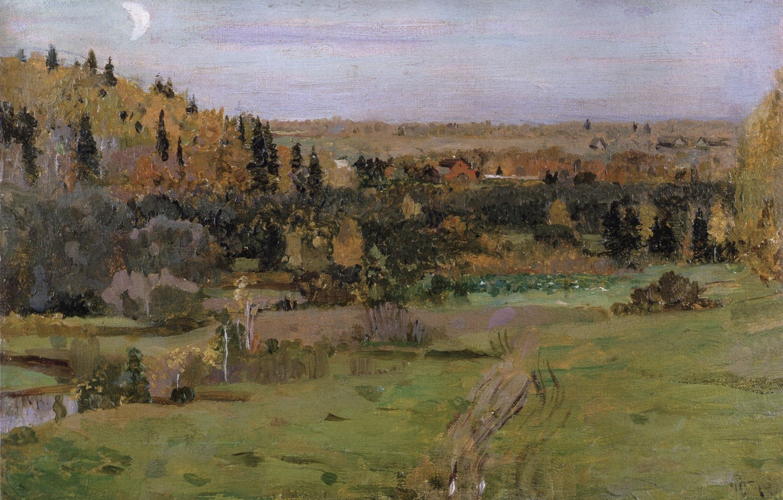 Photo wallpaper 1889, Nesterov, Mikhail Vasilyevich, The Surroundings Of Abramtsevo