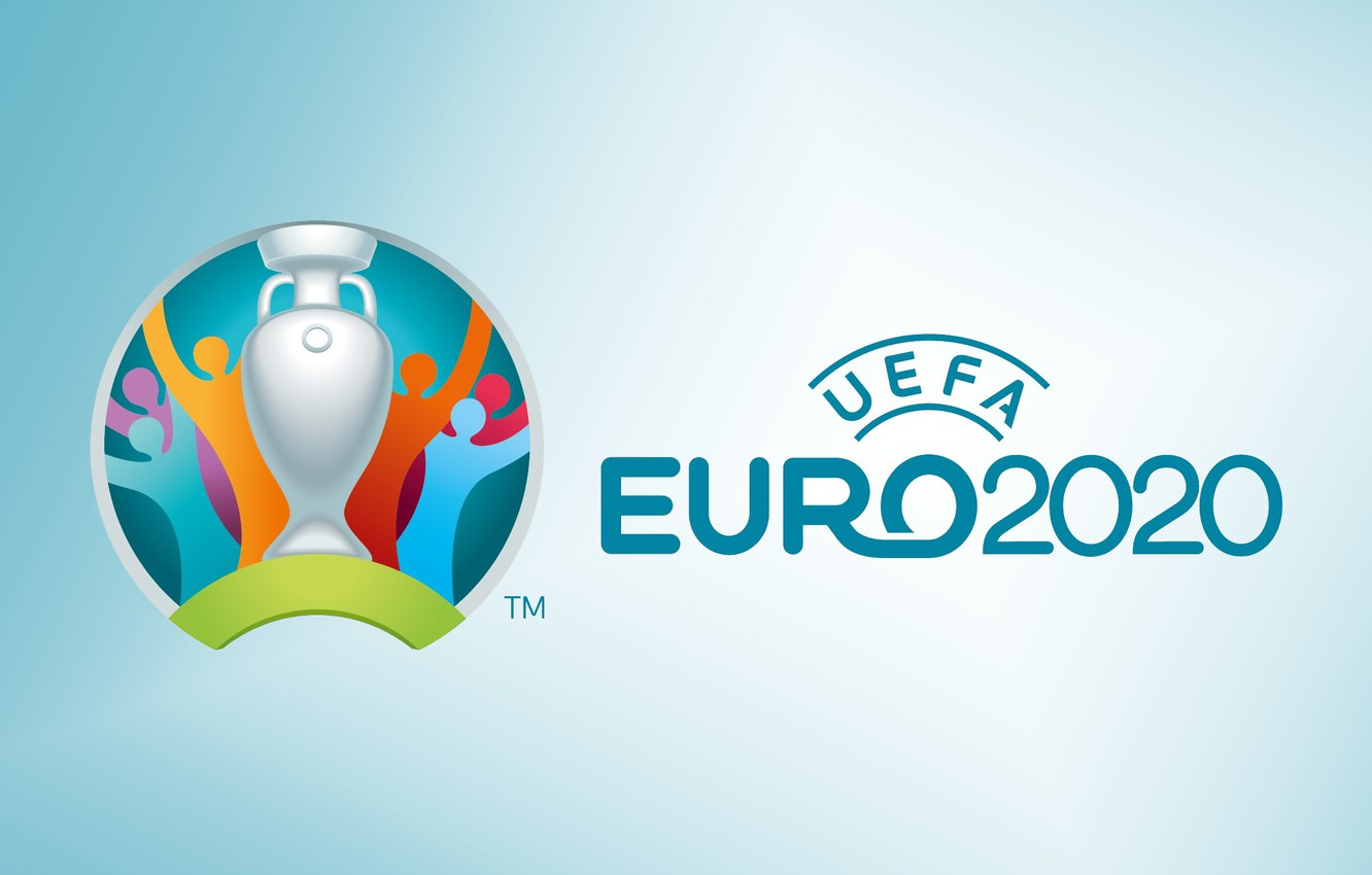 Photo wallpaper sport, logo, cup, soccer, Uefa, simple background, 2020, official logo, Euro 2020