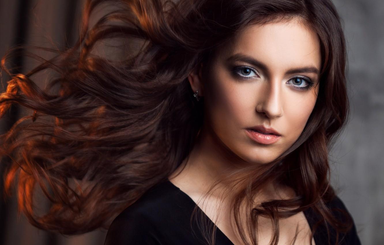 Photo wallpaper look, face, hair, portrait, photographer Leah Koltyrina, Elina Sufyanova