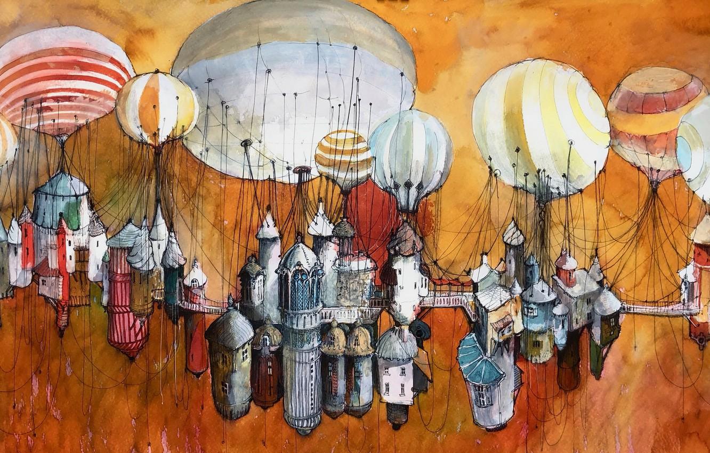 Photo wallpaper balls, figure, home