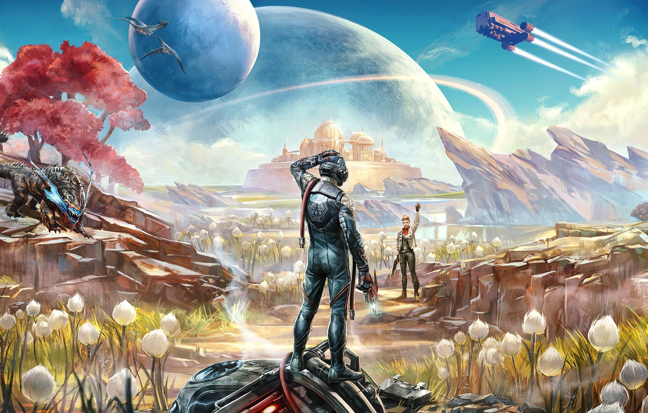 Photo wallpaper Obsidian Entertainment, The Outer Worlds, Private Division