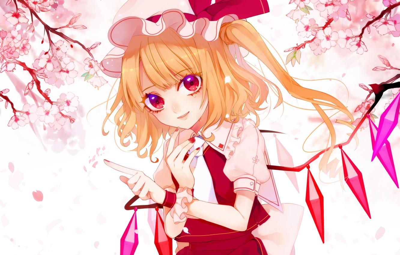 Photo wallpaper flowers, spring, girl, Touhou, Touhou