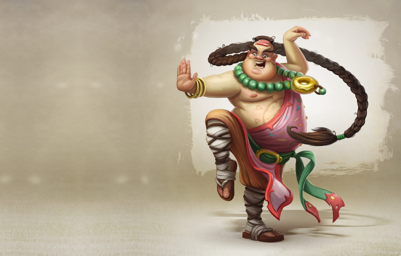 Photo wallpaper mood, art, monk, Fun monk of Donut Clan, Kirill Plotnikov