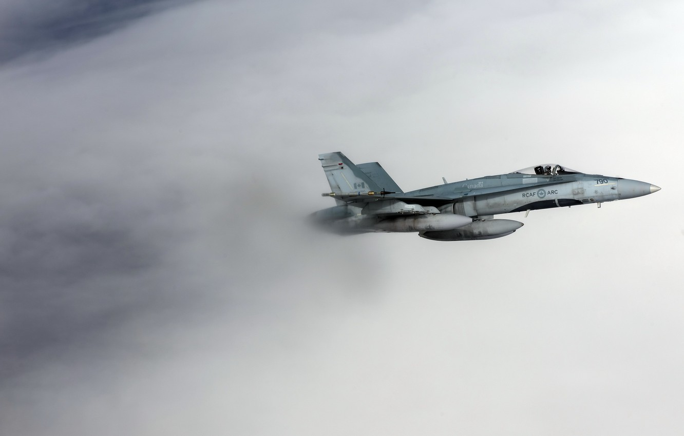 Photo wallpaper weapons, the plane, CF-18 Hornet, Royal Canadian Air Force