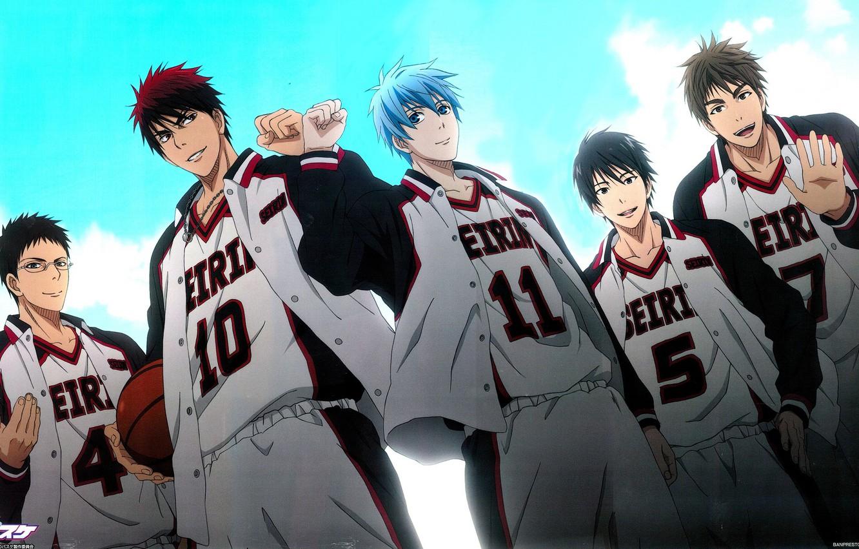 Photo wallpaper the sky, anime, art, team, guys, Kuroko's Basketball, Kuroko no basket