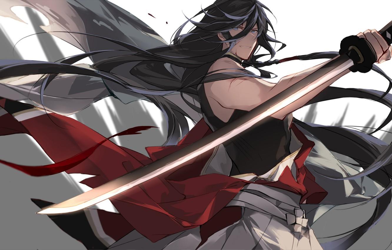 Photo wallpaper sword, anime, art, guy, Touken ranbu, Dance Of Swords
