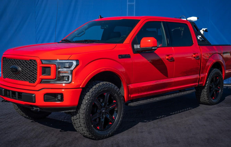 Photo wallpaper car, machine, tuning, Ford, ATV, side, red car, wheel, peak, SuperCrew, Ford F-150, Ford F-150 …