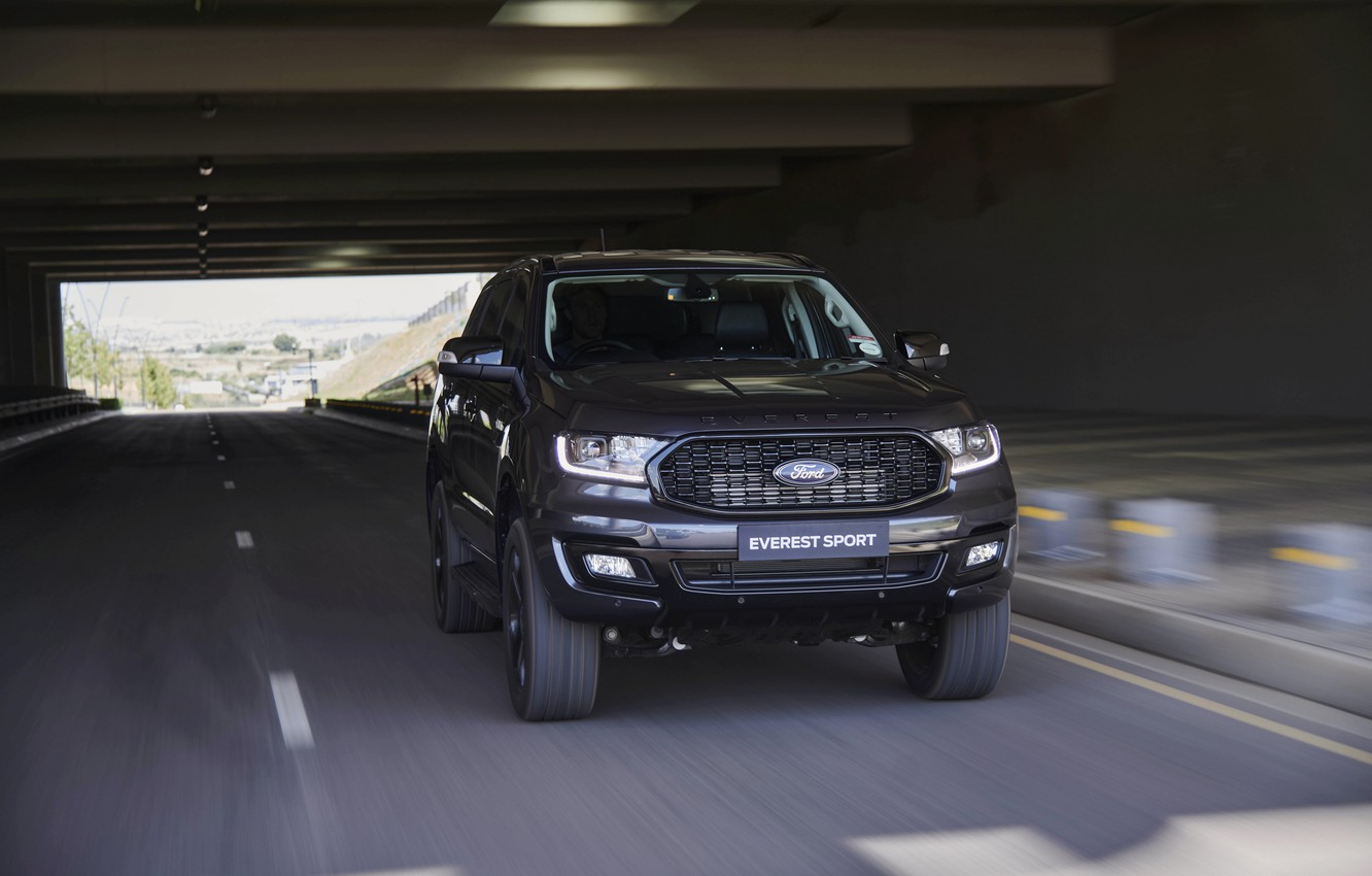 Photo wallpaper Ford, in motion, Sport, Everest, 4WD, 2021