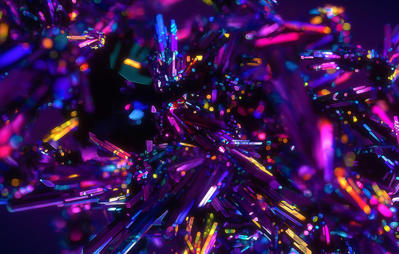 Photo wallpaper colors, colorful, crystals