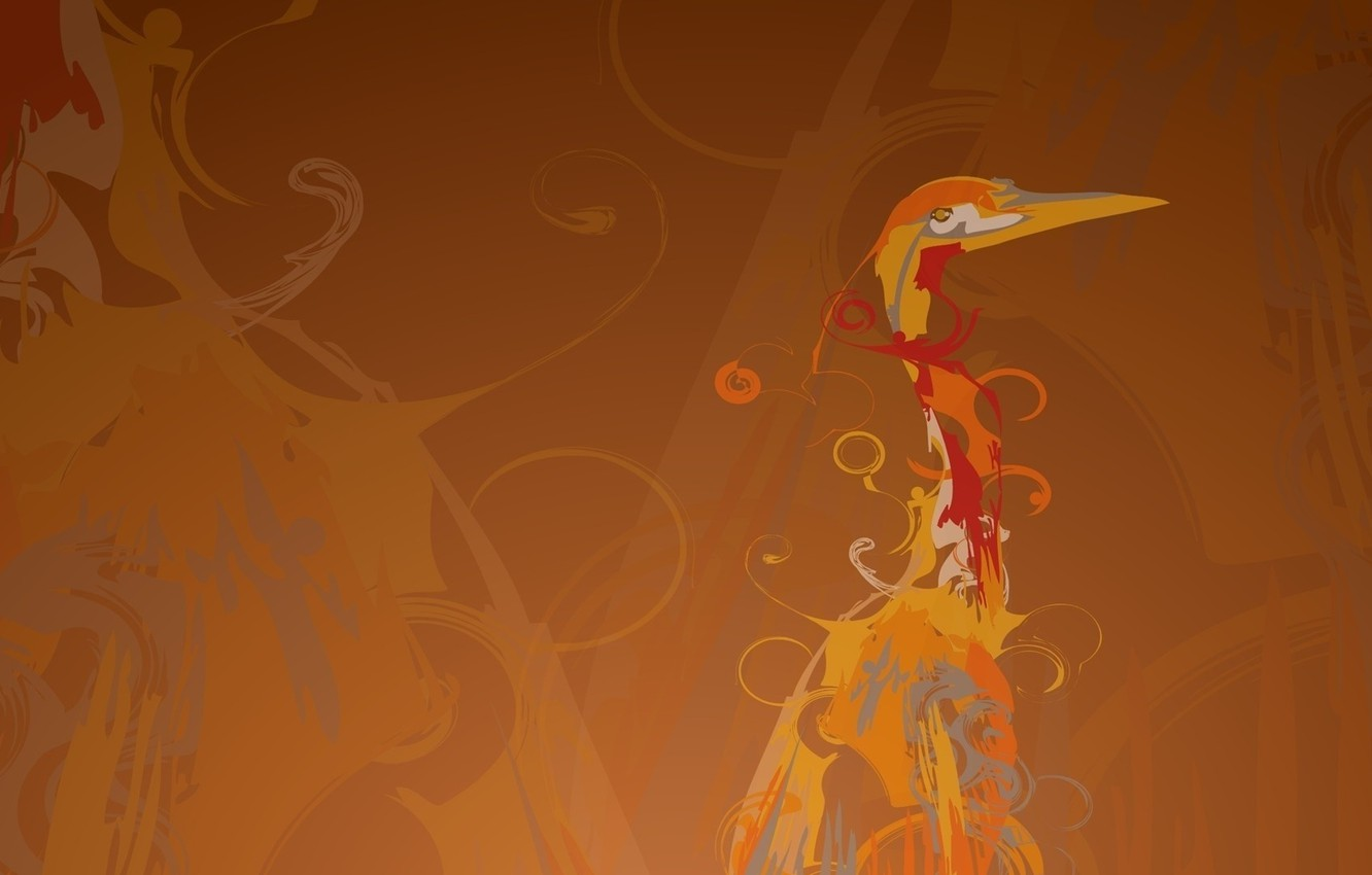 Photo wallpaper vector, beak, Heron