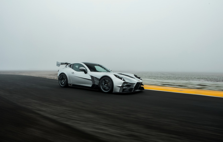 Photo wallpaper fog, speed, supercar, Ginetta, Akula, V8, 2019, 600 HP