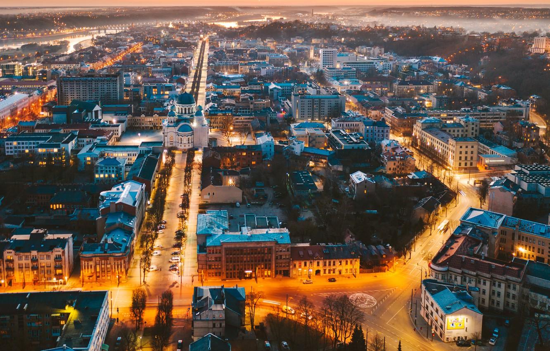 Photo wallpaper the city, Lithuania, Kaunas
