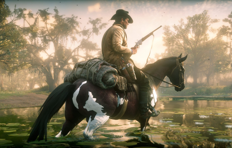 Wallpaper Red Dead Redemption 2 Rockstar Hat Bandit Swamp