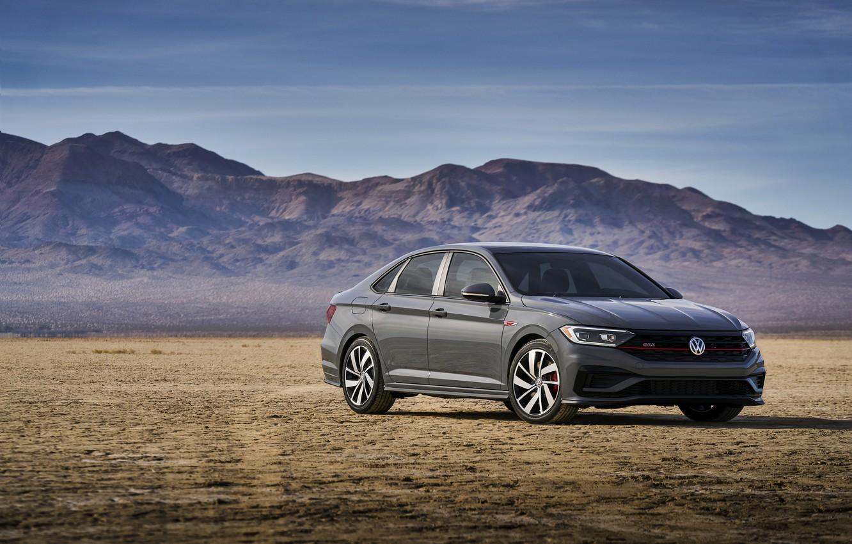 Photo wallpaper plain, Volkswagen, Jetta, sedan, GLI, 2019
