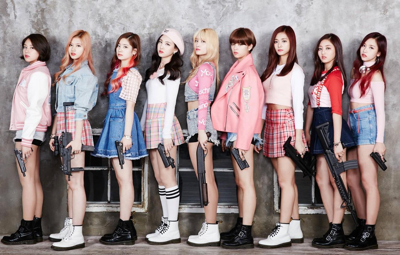 Photo wallpaper Music, Girls, Guns, Kpop, Twice