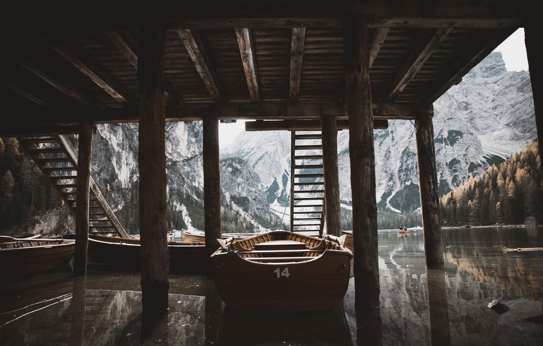 Photo wallpaper roof, water, boat, Jordan McGee