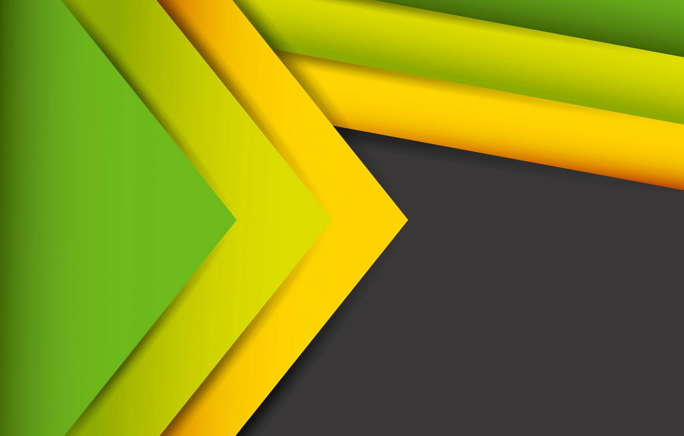 Photo wallpaper line, green, abstract, figure, yellow, lines, fon, figures