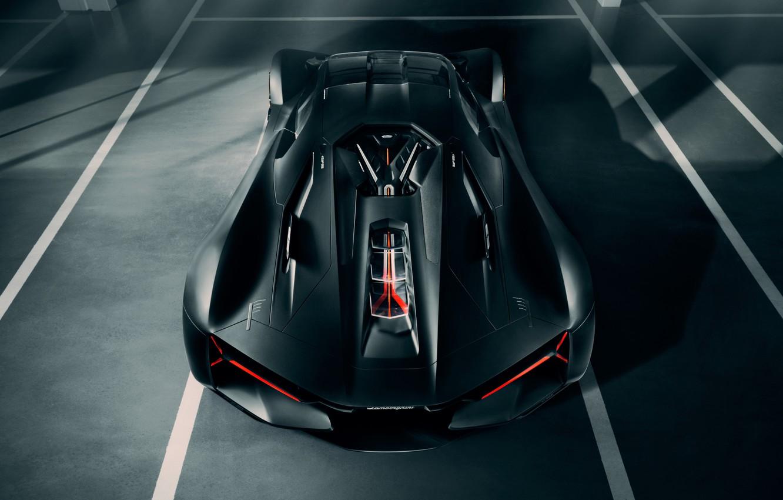 Photo wallpaper Lamborghini, supercar, the view from the top, hypercar, The Third Millennium