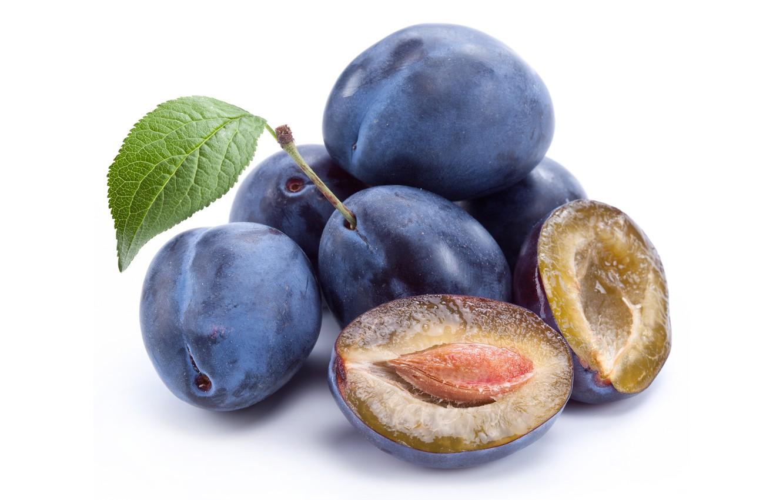 Photo wallpaper background, fruit, plum, treat