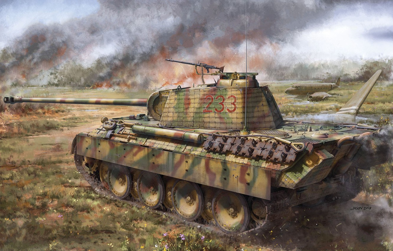 Photo wallpaper Panther, tank, the Wehrmacht, average, panzerwaffe, Pz.Kpfw.V Panther A Early