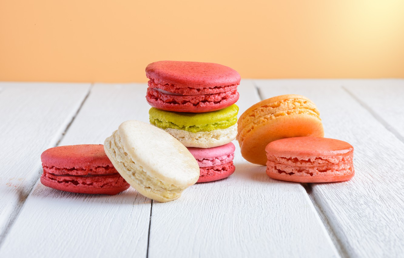 Photo wallpaper colorful, dessert, cakes, sweet, sweet, dessert, bright, macaroon, french, macaron, macaroon