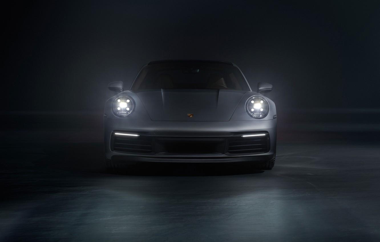 Photo wallpaper 911, Porsche, front view, Carrera S, 2019