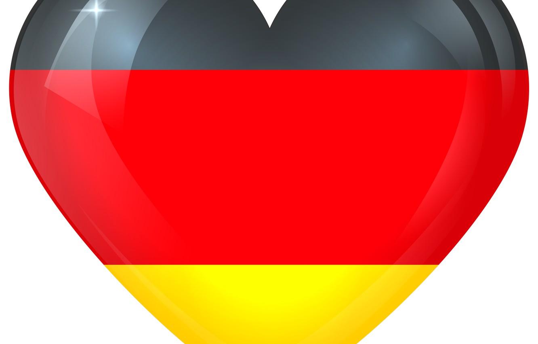 Photo wallpaper German, Germany, Flag, Heart, Flag Of Germany, German Flag