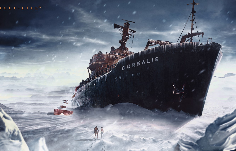 Photo wallpaper Boat, Ship, Half Life, half life, valve, Borey, gordon freeman, half life 2, black mesa, …