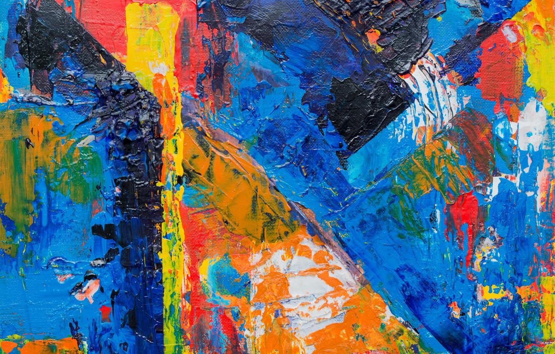 Photo wallpaper line, paint, canvas, strokes