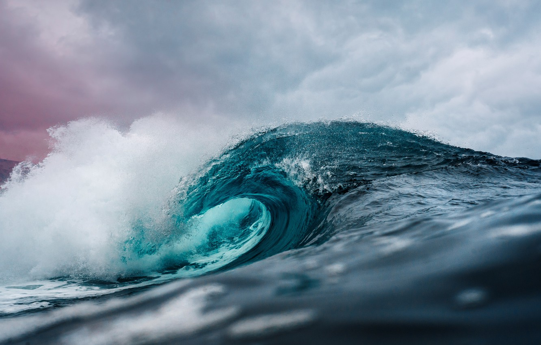 Photo wallpaper sky, wave, Ocean, crest