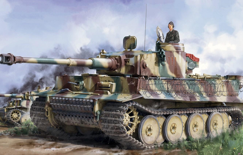 Photo wallpaper Germany, tank, jason, the Wehrmacht, Tiger I, Pz.Kpfw.VI, panzerwaffe, Heavy, Sd.Car.181, Pz.Kpfw.VI Ausf.E, Pz.Kpfw.VI Ausf.E …