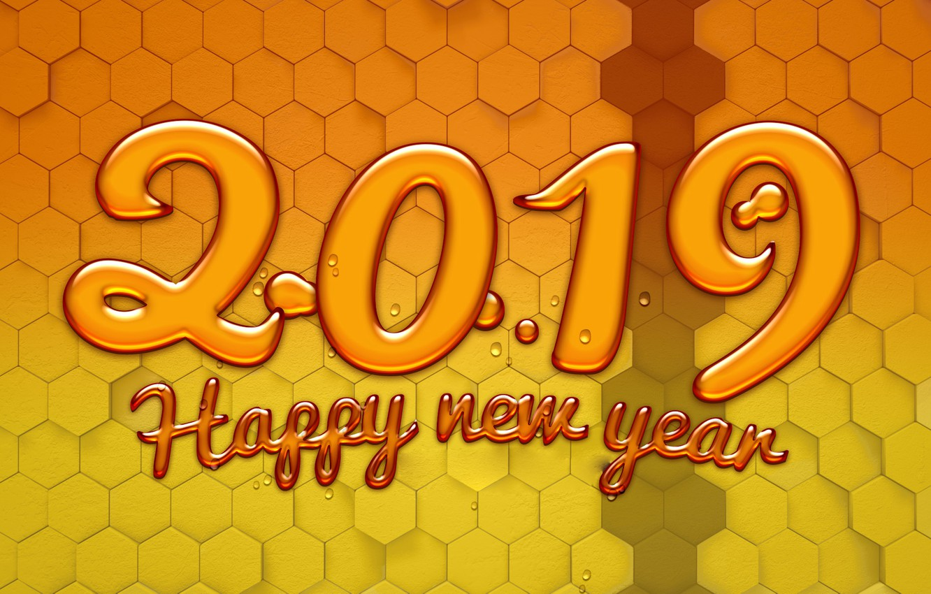 Photo wallpaper background, figures, New year, New Year, 2019