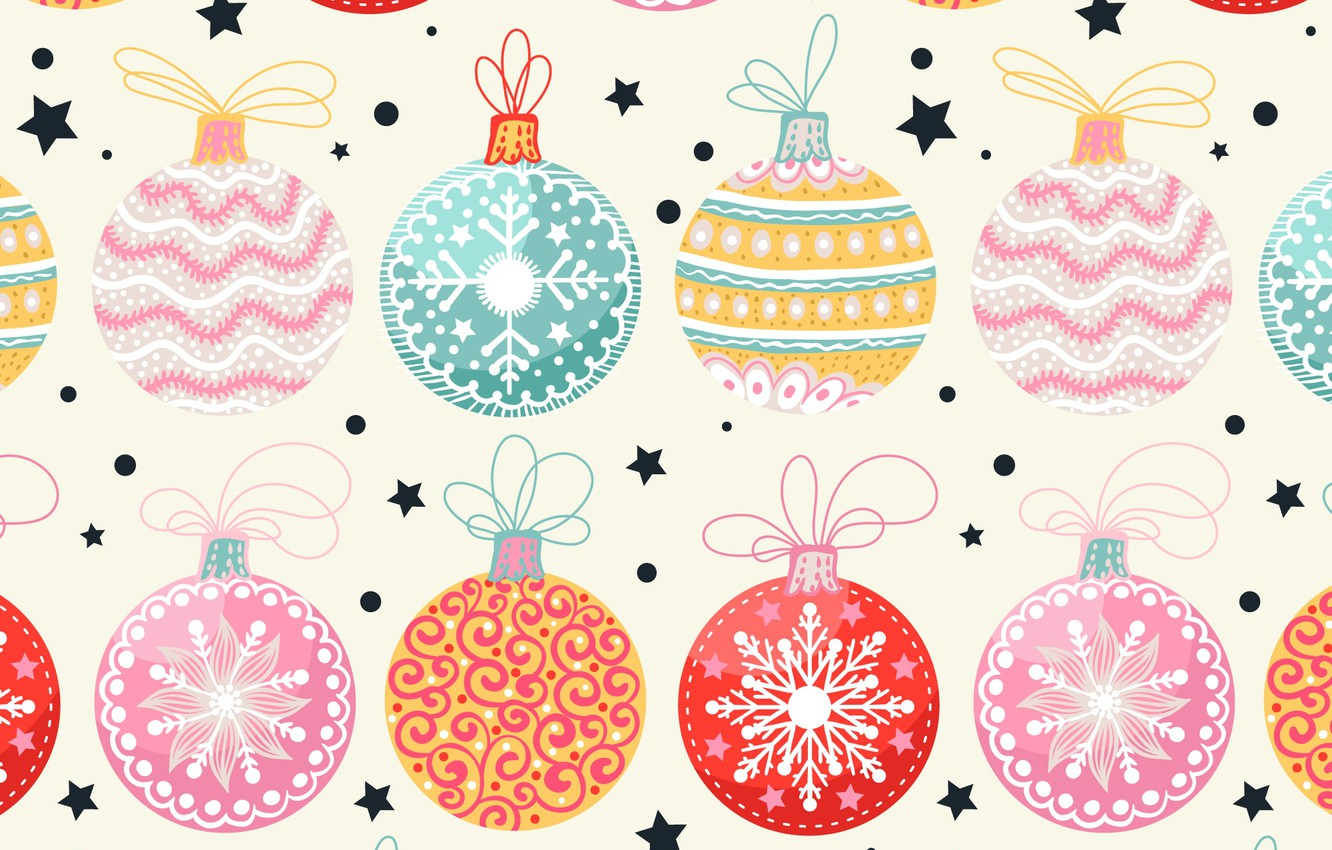 Photo wallpaper background, holiday, balls, toys, new year, vector, texture