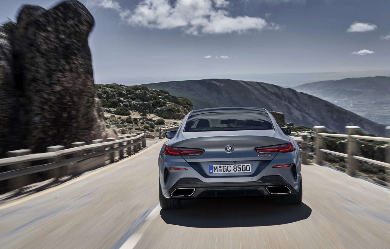 Photo wallpaper the sky, mountains, rocks, coupe, BMW, Gran Coupe, ridge, 8-Series, 2019, the four-door coupe, Eight, …