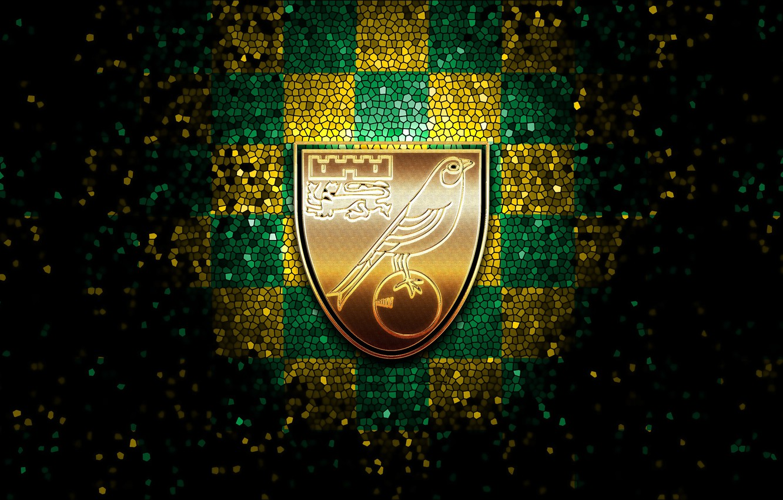 Photo wallpaper wallpaper, sport, logo, football, glitter, checkered, Norwich City