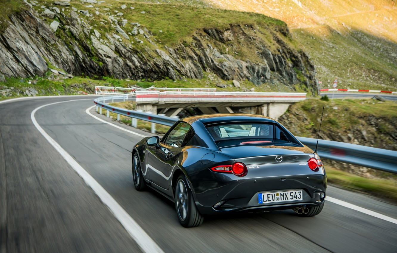 Photo wallpaper asphalt, Mazda, Targa, 2019, dark gray, MX-5 RF