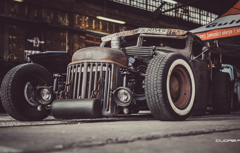 Photo wallpaper Car, Custom, Rat Rod, Modified