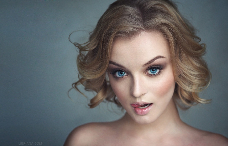 Photo wallpaper Girl, Photo, Language, Look, Blonde, Model, Girl, Model, Beauty, Blonde, Photo, Beautiful, Blue eyes, Look, …