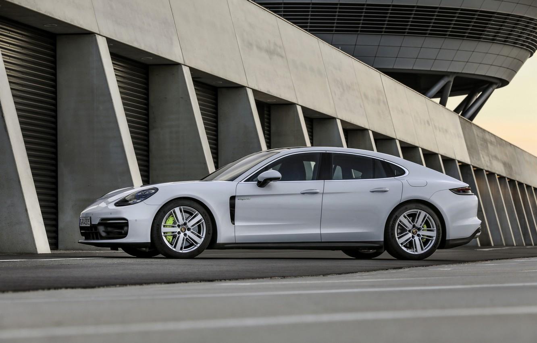 Photo wallpaper white, Porsche, Panamera, 2021, Panamera 4S E-Hybrid