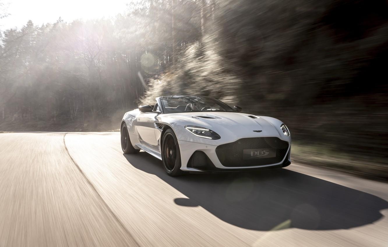 Photo wallpaper machine, light, Aston Martin, DBS, Superleggera, Volante