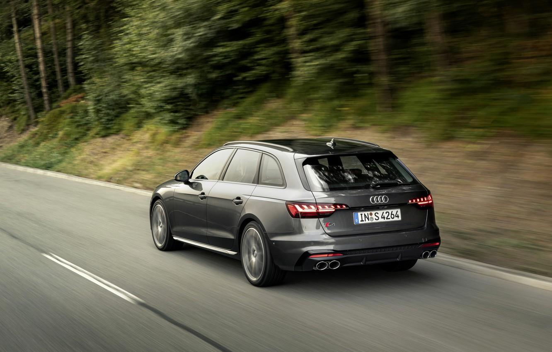 Photo wallpaper Audi, speed, universal, 2019, A4 Avant, S4 Before