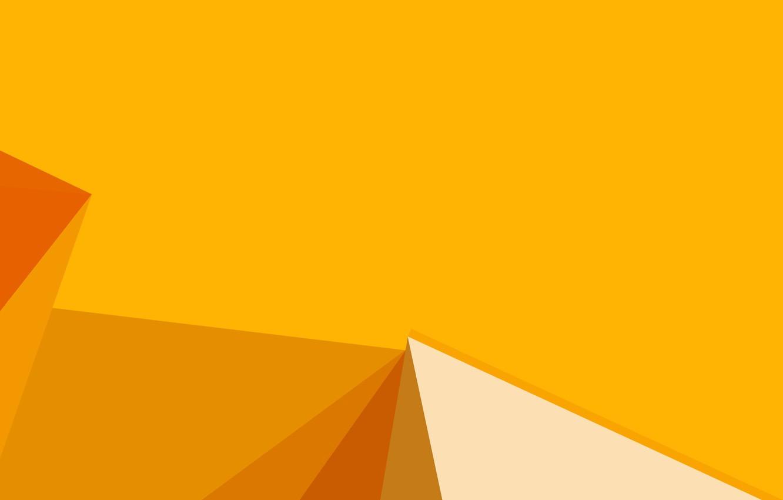 Photo wallpaper yellow, background, yellow, lines, orange, shapes, corners