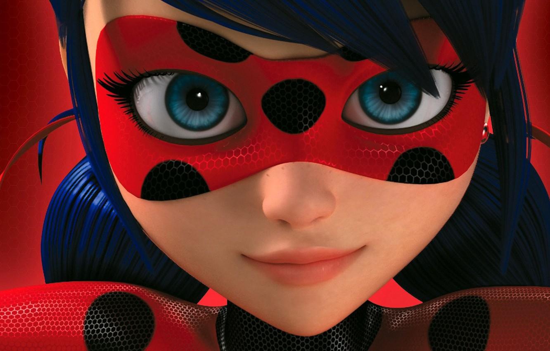 Photo wallpaper Eyes, Mask, FACE, Lady Bug