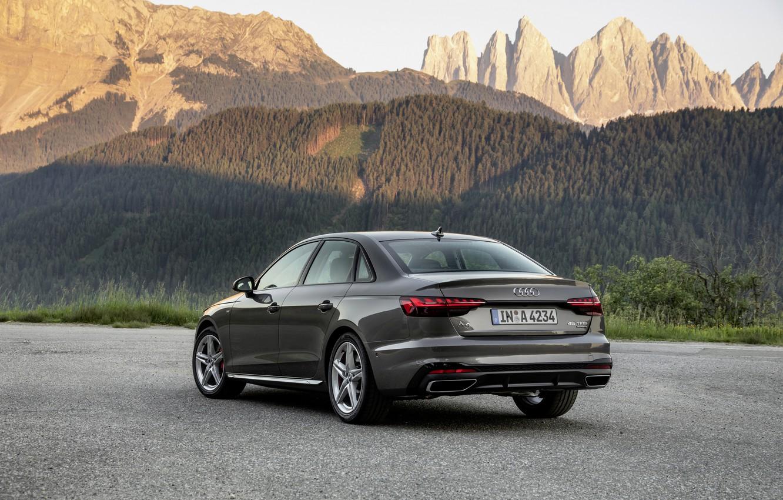Photo wallpaper mountains, Audi, sedan, ass, Audi A4, 2019