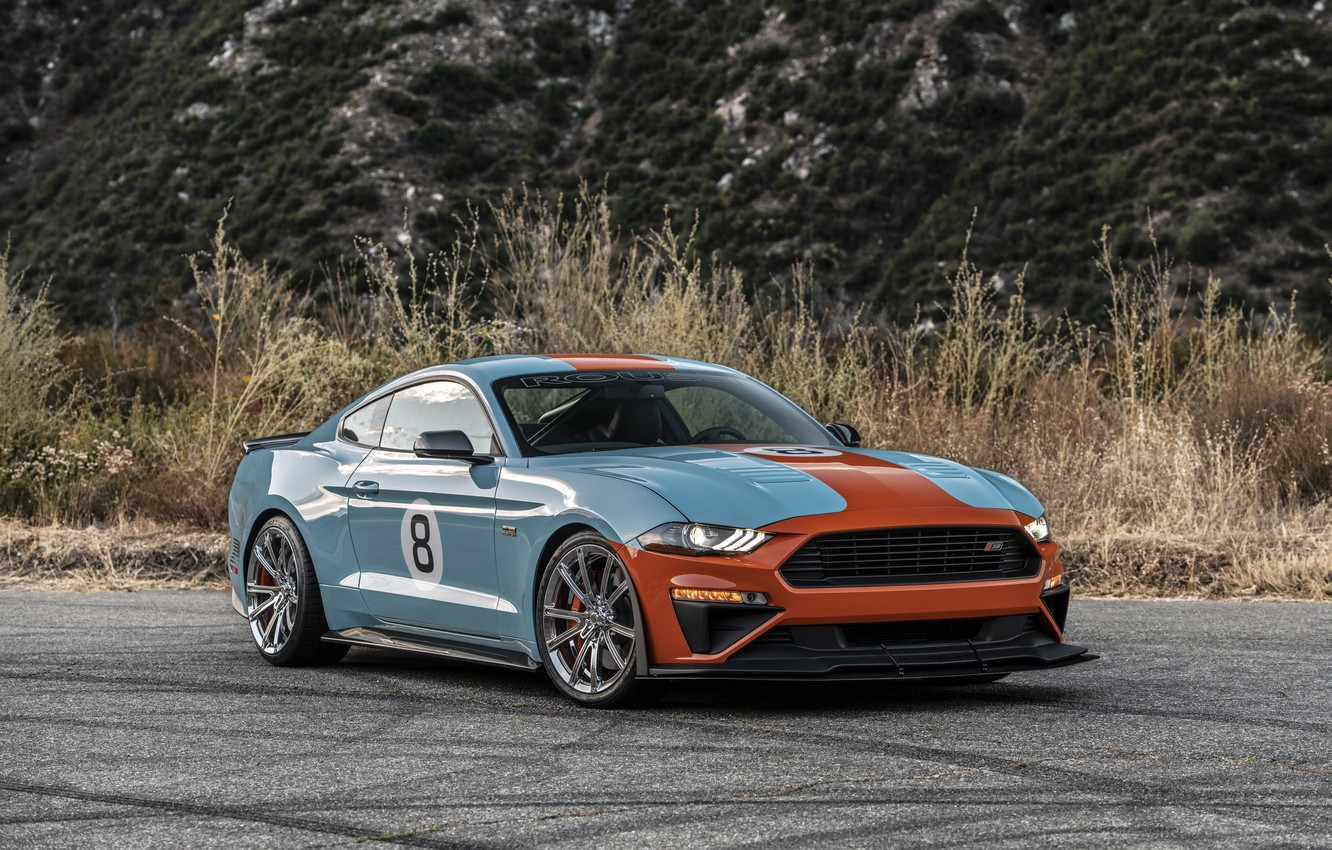 Photo wallpaper machine, Mustang, Ford, Roush, Performance Stage 3