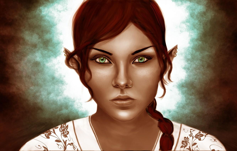 Photo wallpaper look, girl, elf