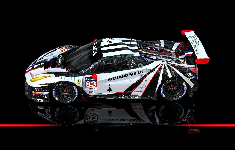 Photo wallpaper Auto, Machine, Car, Render, Supercar, Supercar, Sports car, FIA, Ferrari 488, Racecar, Transport & Vehicles, …